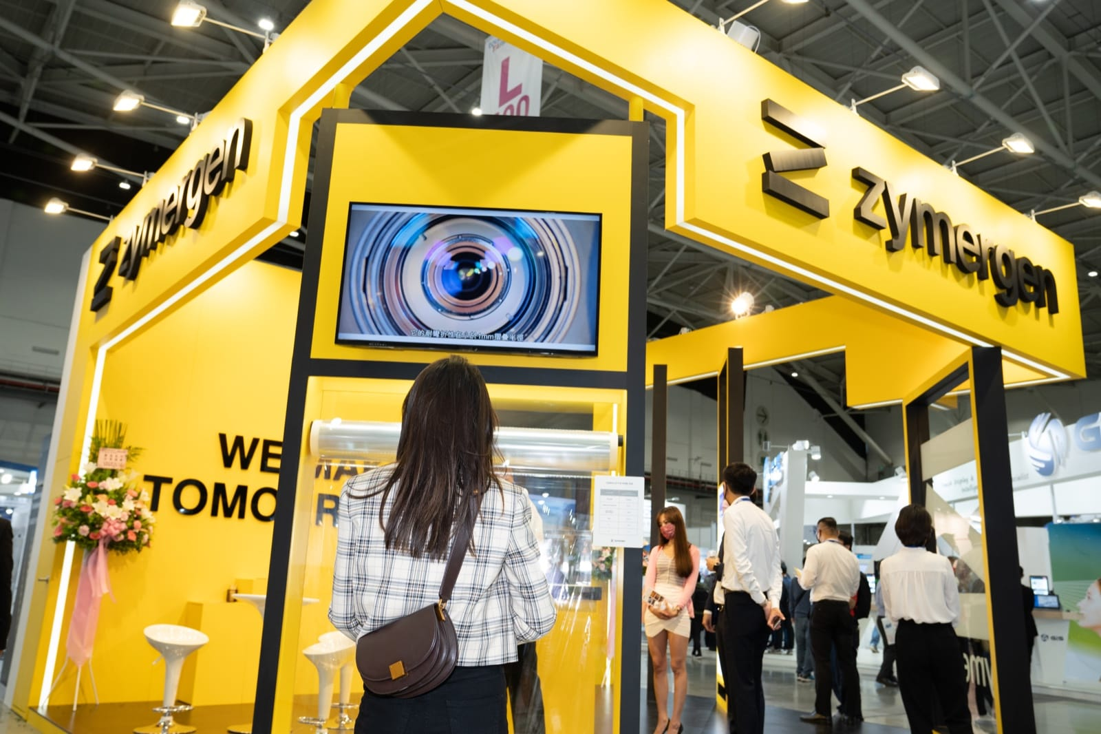 Zymergen booth at Touch Taiwan 2021